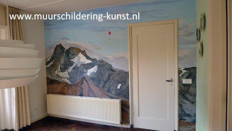 muurschildering bergen
