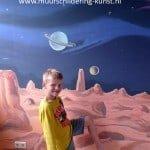 Muurschildering van de ruimte