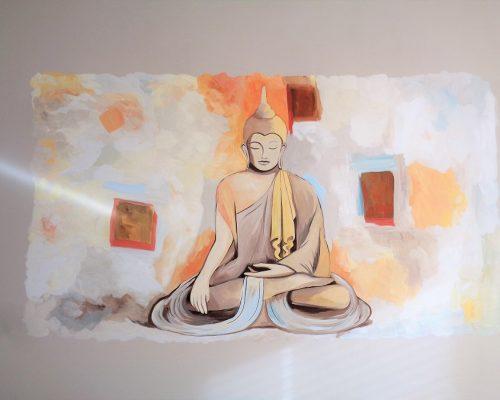 Boeddha muurschildering