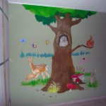 muurschildering bos landschap laten maken