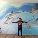 muurschildering-dolfijnen
