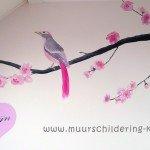 muurschildering meisjeskamer