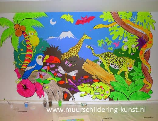 jungle muurschildering