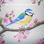 muurschildering vogels