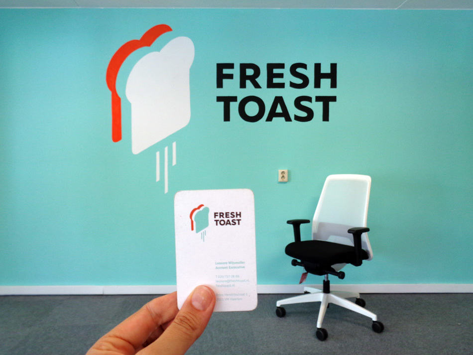 kantoor muurschildering logo bedrijf