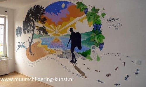 muurschildering gelderland