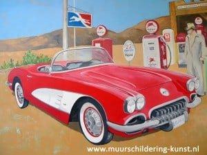muurschildering auto