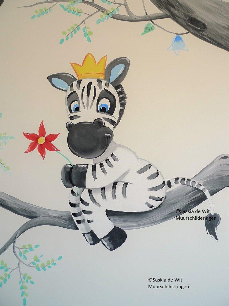 kinderkamer muurschildering