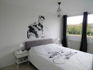 Elvis presley schildering muur