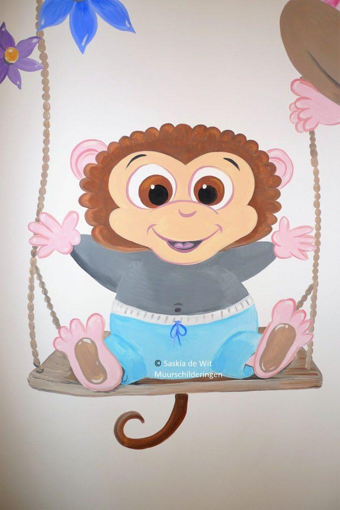 kinderkamer aapjes laten schilderen