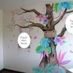boom muurschildering